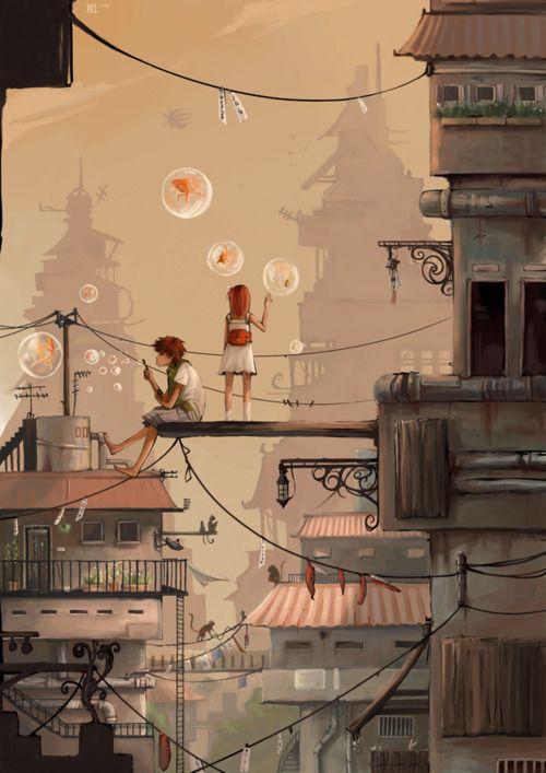 City Escape by *Rozefire                                                                                                                                                                                 Mehr
