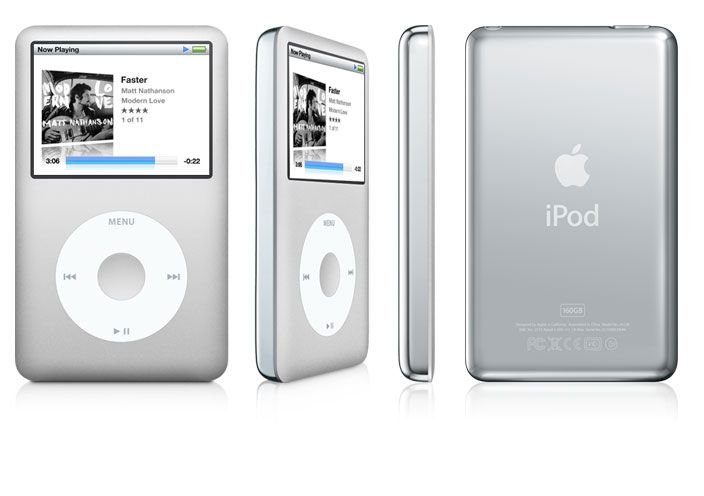 The classic iPod - holding all of my music in lossless format.  As an audiophile, I hope they never phase this out.