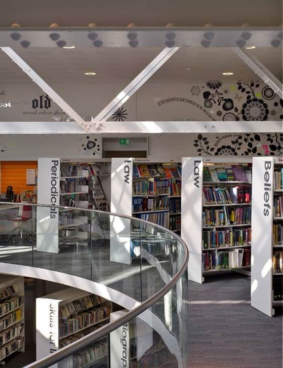 Interior Design Library Winchester Discovery Centre 2008 Hampshire County Council C