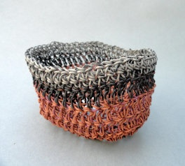 """JK172011 Striped Steamer Basket  Approx. 3.5"""" W x 2.25"""" H  (Available through GreenLife Gallery)"""