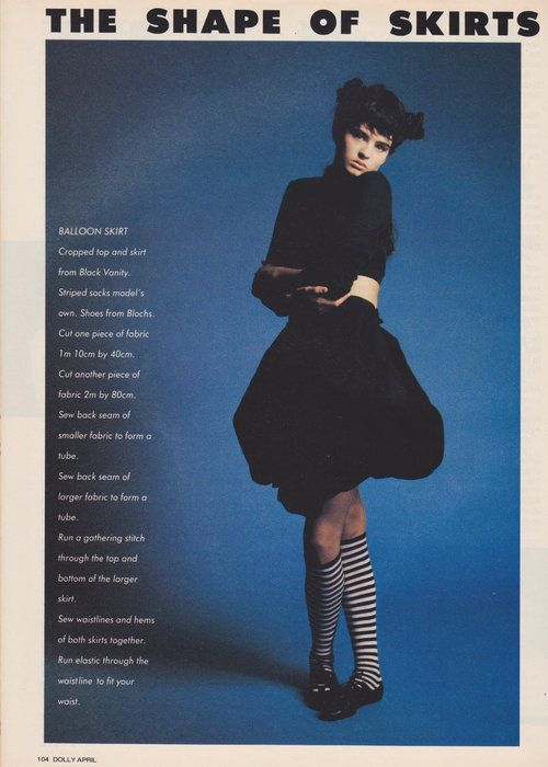 Dolly April 1987 | The Shape Of Skirts To Come (Belinda Riding) 01