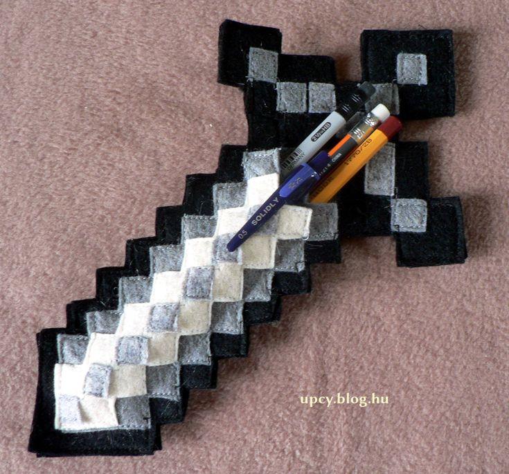 Minecraft sword pencil holder, tutorial. Minecraft kard tolltartó - útmutató.