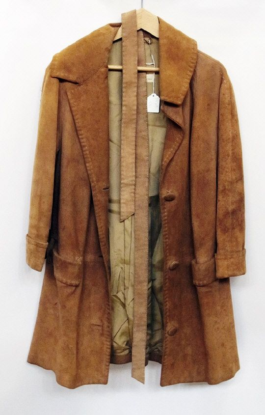 1960's suede long coat with belt.  Estimate £30.00 to £50.00 (Lot no: 355 in sale on 05/08/2014) The Cotswold Auction Company
