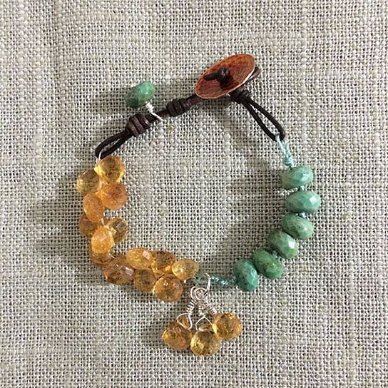 Turquoise Citrine Bracelet..love this color combo