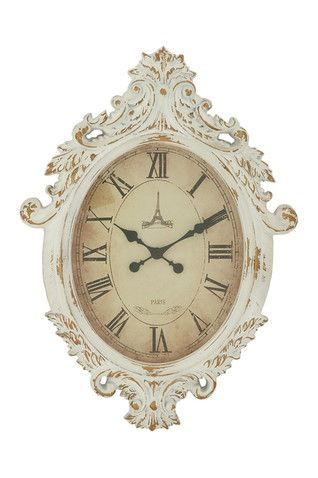 Oval Vintage Wall Clock
