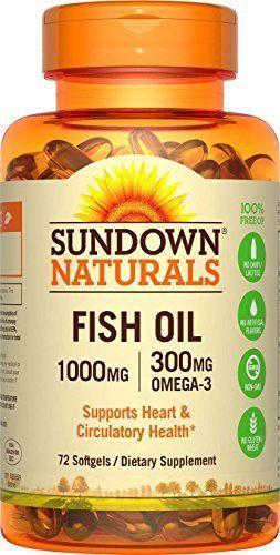 Sundown Naturals Fish Oil 1000 mg, 72 Softgels //Price: $2.96 & FREE Shipping //     #hashtag1