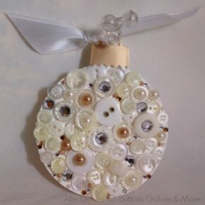 Supplies for Buttons and Bling Ornament Ideas: