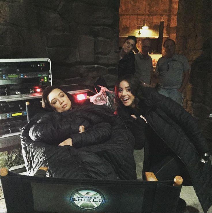 Agents of Shield season 3 behind the scenes skye / daisy chloe bennet ming na wen may