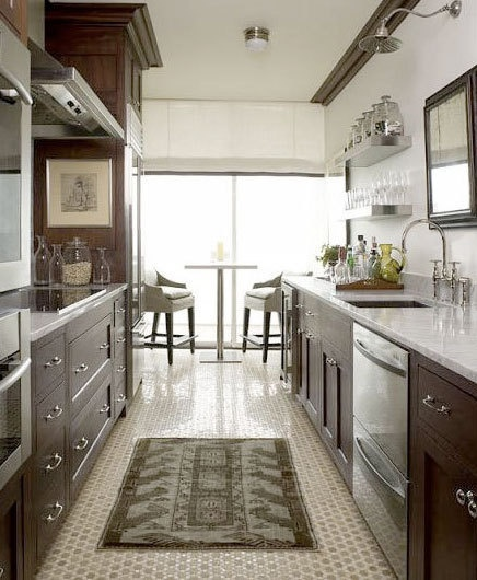 24 best images about galley kitchens on pinterest galley for Galley kitchen sink