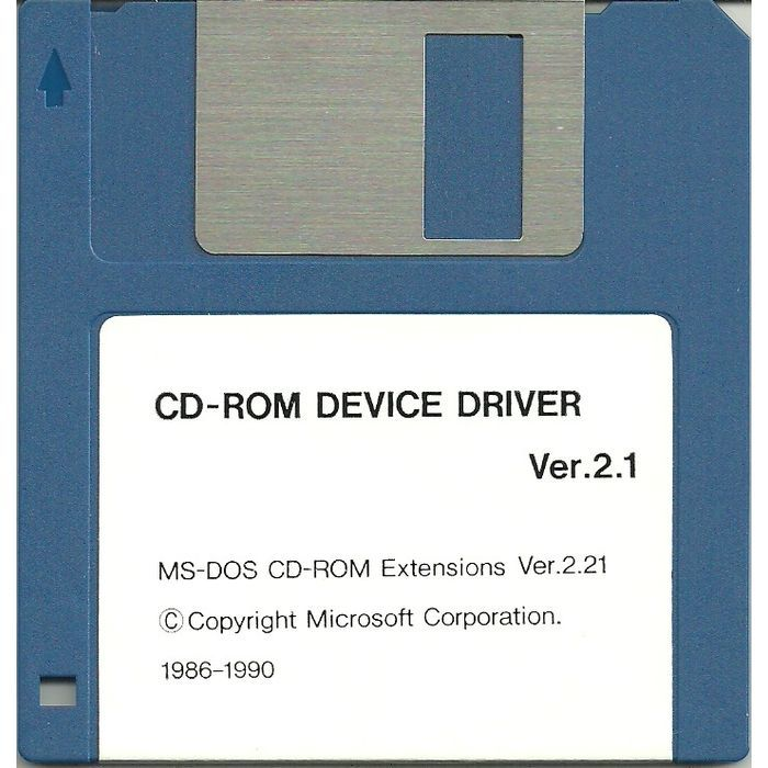 MS-DOS CD-ROM Device Driver Ver. 2.1 PC Software DOS 3-1/2 inch floppy disc 1990 Listing in the Utilities,Software,Computing Category on eBid Canada | 155189191 CAN$ 7.00 + Shipping