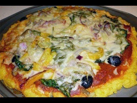 Recette Pizza Polenta sans gluten (semoule de maïs)