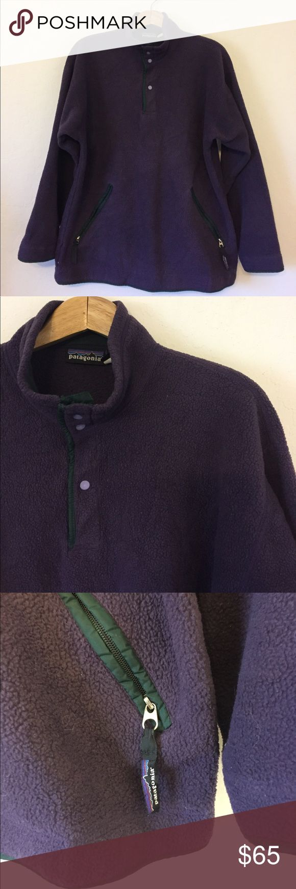 Patagonia Fleece Pullover Patagonia fleece pullover.  Features two zippered side pockets and adjustable elastic at bottom to keep the warmth in and the cold out.  In great, gently used condition. Patagonia Jackets & Coats