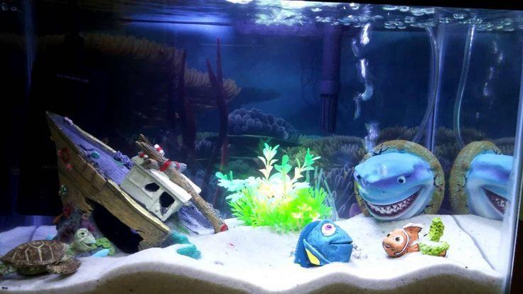 Finding Nemo Themed Aquarium Fish Tank Fishing Tank Ideas Of Fishing Tank Fishingtanks Fishing Tan Spongebob Fish Tank Cool Fish Tanks Fish Tank Themes
