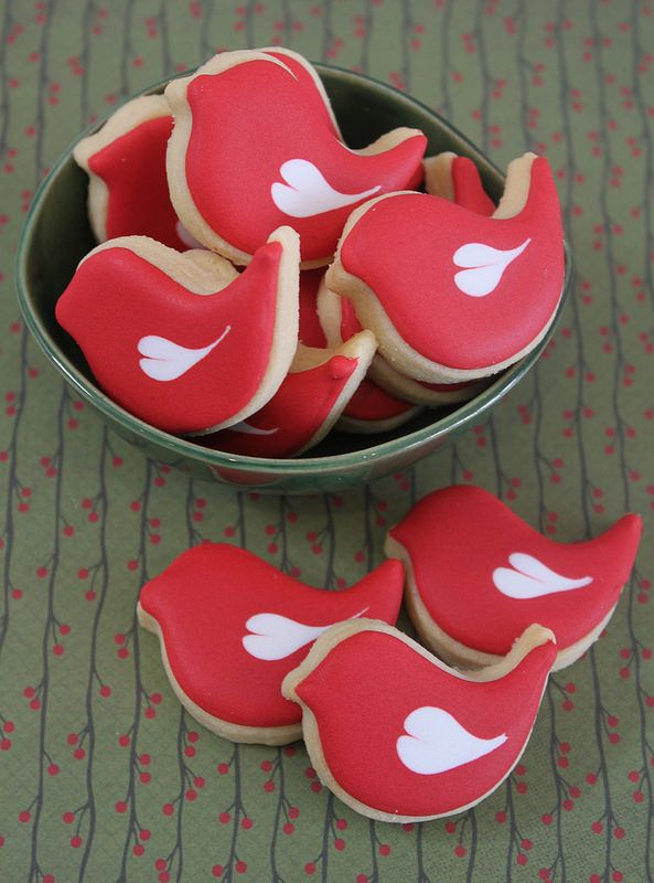 Mini love bird cookies by Miss Biscuit | by Miss Biscuit