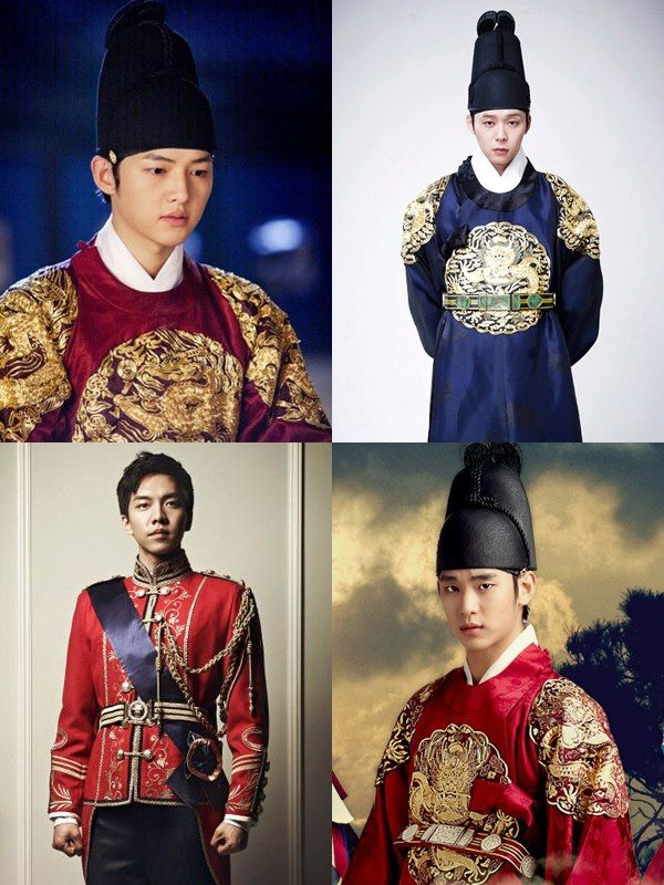 My Joseon Kings-- Song Joong Ki, Park Yoochun, & Kim Soo Hyun..& modern King Lee Seung Gi <3