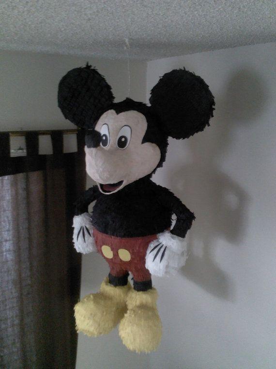 Mickey Mouse Pinata by SmashingFunCreations on Etsy
