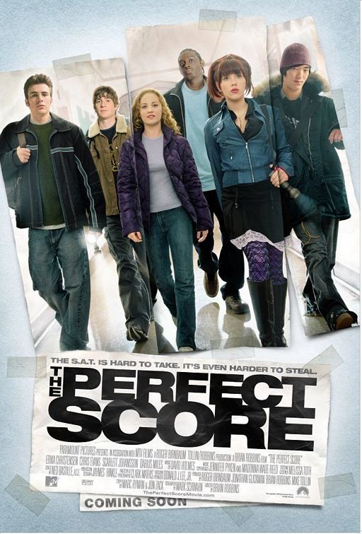 The Perfect Score , starring Scarlett Johansson, Erika Christensen, Chris Evans, Leonardo Nam. Six high school seniors decide to break into the Princeton Testing Center so they can steal the answers to their upcoming SAT tests and all get perfect scores. #Comedy #Crime