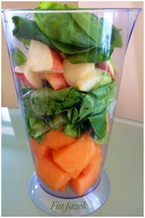 zöld turmix, élő, nyers, reggeli, vacsora, reggeli ital, fiona, spenót, saláta, sárgadinnye, avokádó, alma, zöld