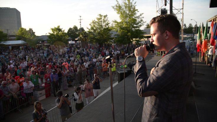 Gabe Broussard sings Star Spangled Banner: Festival International 2017 L...