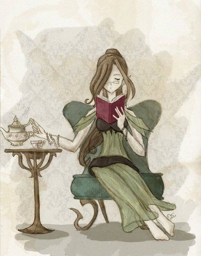 "Tea and a good book; that's me to a ""T"""