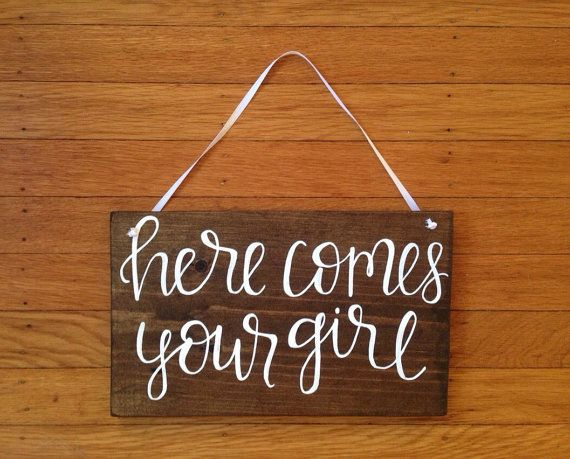 ring bearer sign - here comes your girl