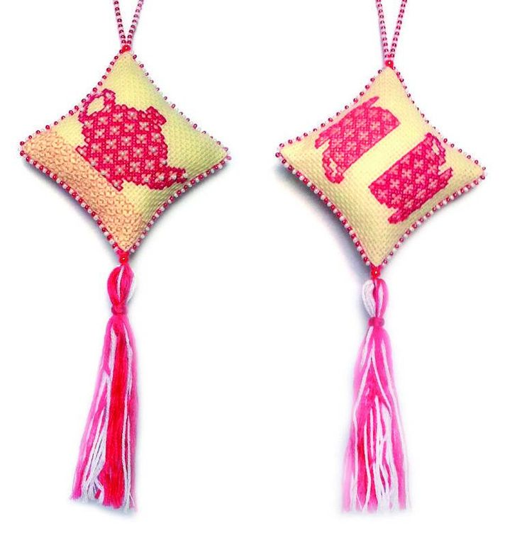 Набор для вышивания ZENGANA М-003 Подвеска Розовый чай
