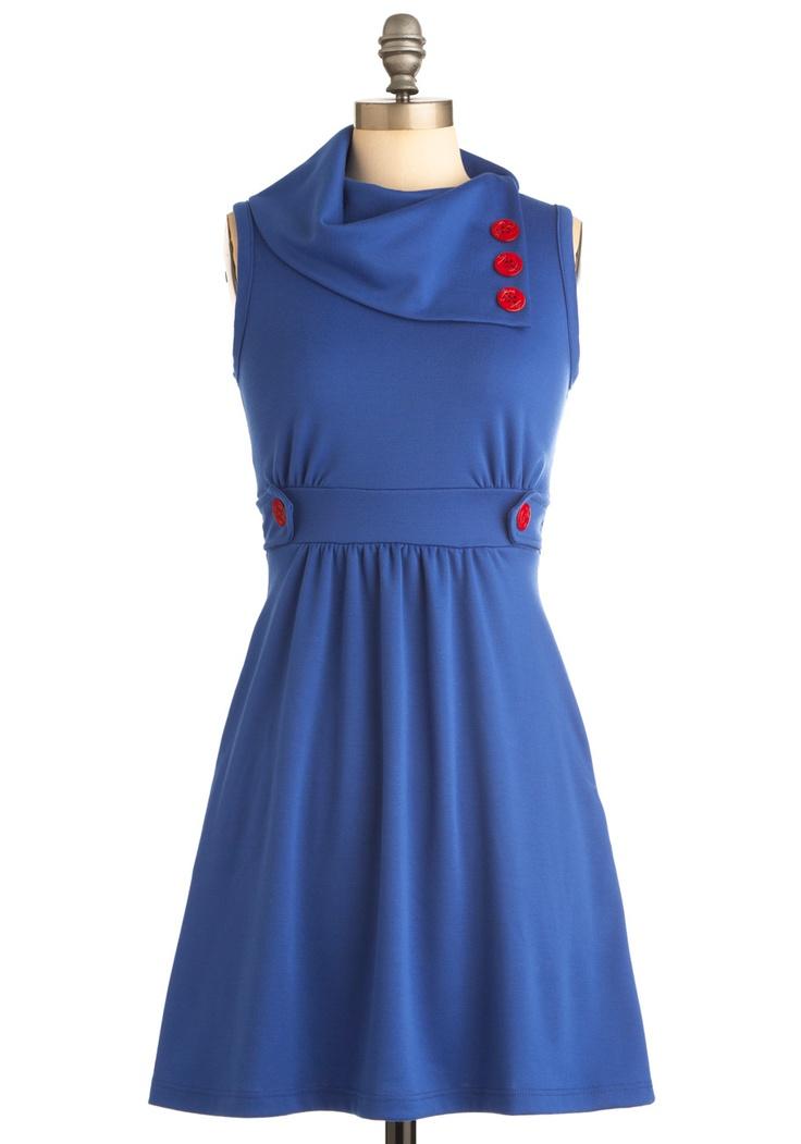 Coach Tour Dress in Azur | Mod Retro Vintage Dresses | ModCloth.com
