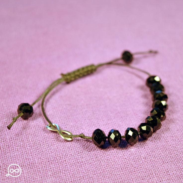 Black Beads Bracelet. #tufatufa
