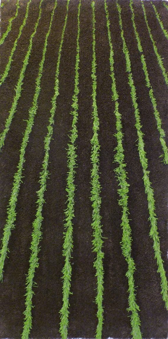 Crops Sprouting Rug - The feel of the farmland in your living room.