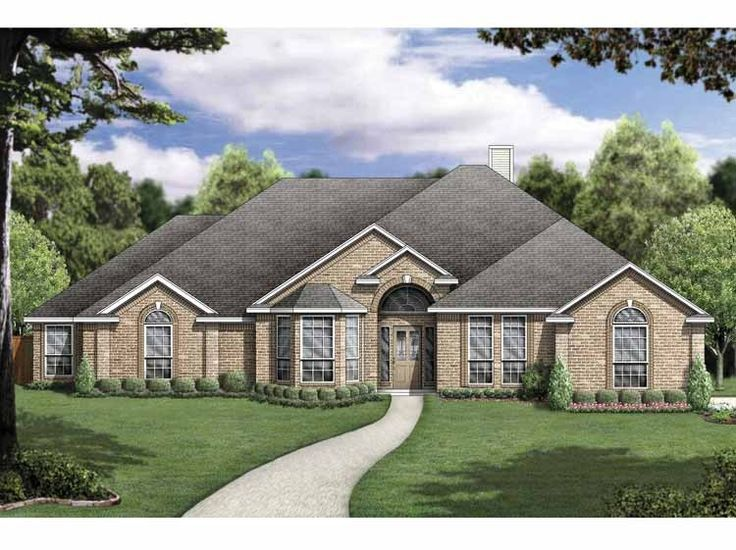 Eplans new american house plan four bedroom new american for Www eplans com house plans