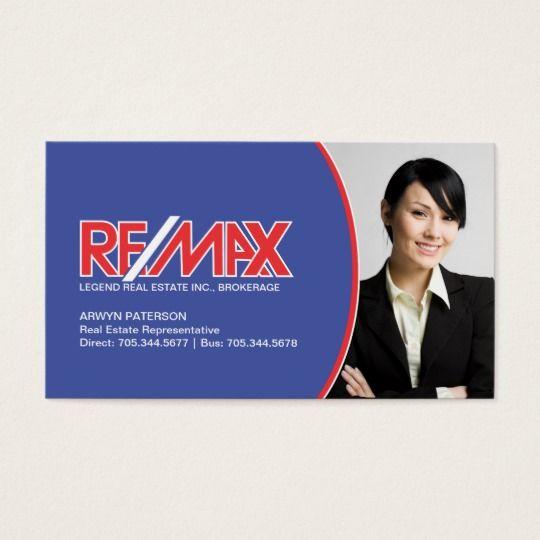 Cartão de visita dos bens imobiliários de Remax