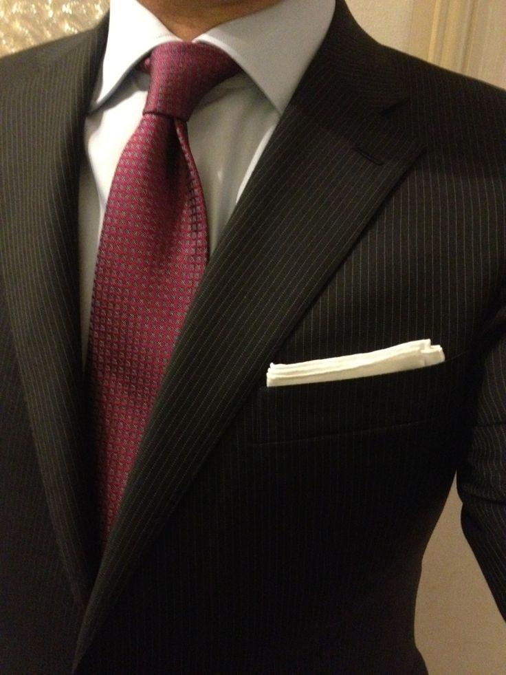 OTR Cifonelli suit and shirt. Di Castri tie.