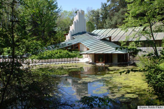 wright architecture | Frank Lloyd Wright, Alden B. Dow And 13 Other Famous Architects' Homes ...