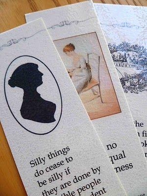 download Jane Austen bookmarks