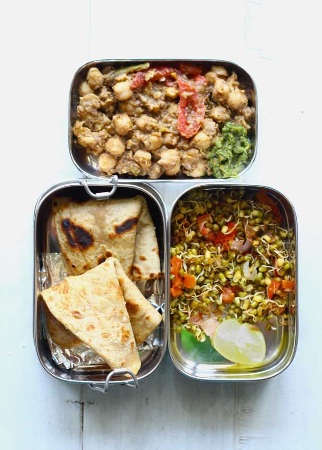 Channa Masala is one of the nation's favorite lunchtime/breakfast menu. This combination can be enjoyed during any hour of the day. Chana Masala with Paratha and Sprout Salad. funfoodfrolic.com