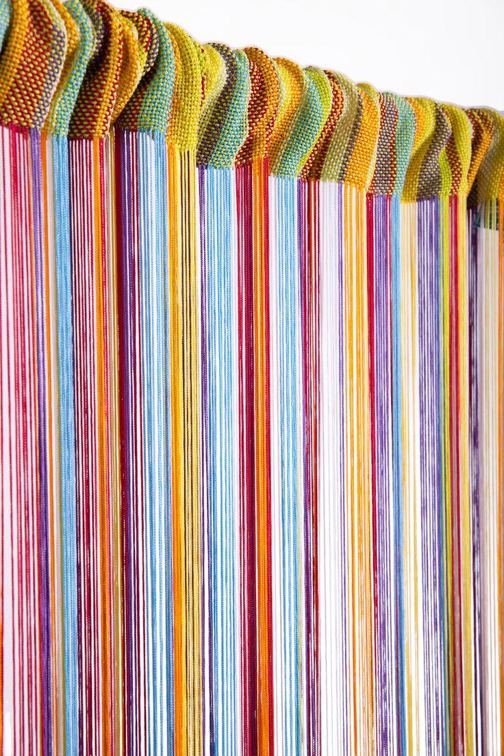 Beaded string curtains - String Curtain Rainbow 3 Ft X 7 3 Ft Rayon