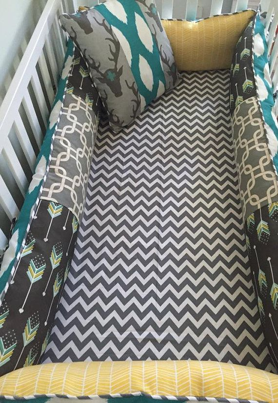 Rustic Deer Crib Bedding. Woodland Baby Bedding. by maxandgrace