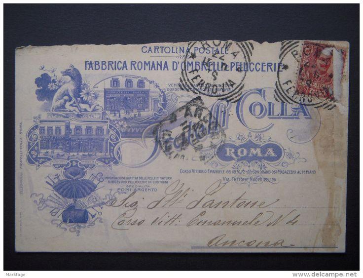 ROMA FRATELLI COLLA FABBRICA ROMANA OMBRELLI E PELLICCERIE 1902 - Delcampe.it