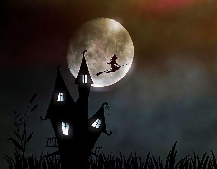 Hexenhaus, Heks, Måneskin, Uhyggelig, Halloween