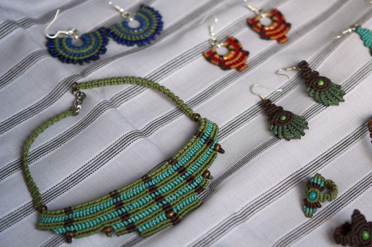 Macrame jewellery, by THEIA Lab's student Mirto Dimakou.