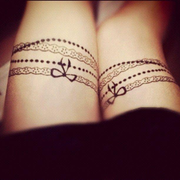 Bracelet Tattoos with sunflowers | Bracelet Tattoo