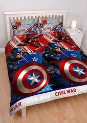 MARVEL COMICS ~ 'Civil War' Double/Queen Bed Reversible Quilt Set