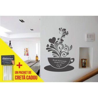 Cafeaua cu notite : Stickere Blackboard - http://stickere.net/stickere-creative/Stickere-Blackboard/cafeaua-cu-notite