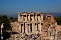 Ephesus, situated  near the town  of Selçuk, is Turkey 's most important ancient city and one of the best preserved and restored in the whole Classical World.  http://www.turkeytraveladvisory.com/turkey_tours/details/turkey_travel_destinations/5/Ephesus/