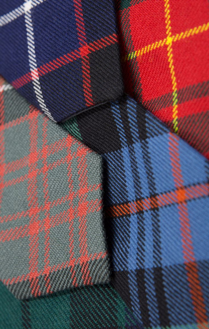 Our tartan ties are a fantastic way to inject colour, fun and Scottish heritage into an outfit. Made of 100% pure new wool and available in a variety of colours.