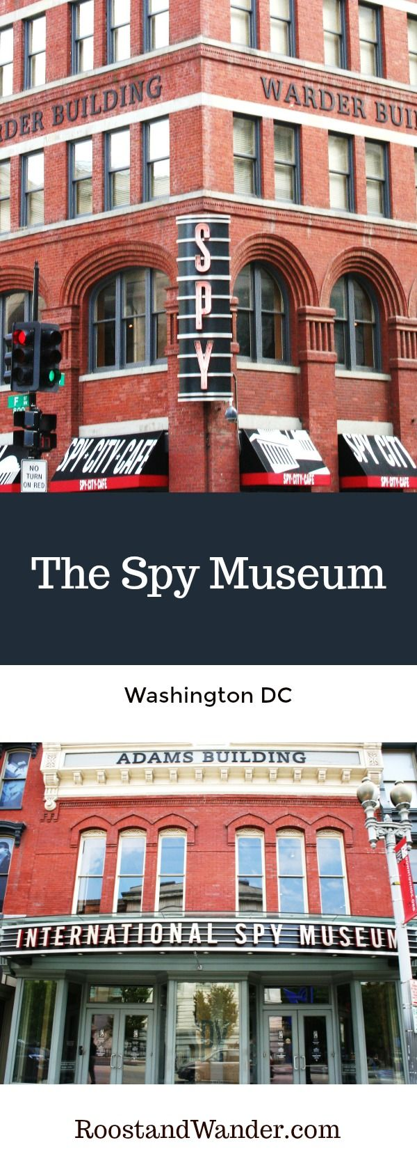 The Spy Museum in Washington DC! Best Spy Store museum gift shop ever, and down the street hit the National Portrait Gallery and Pi Pizzeria! Shared about it on the site. #DC #WashingtonDC #Spy