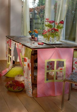 Make a house under the table (for your kids ;)