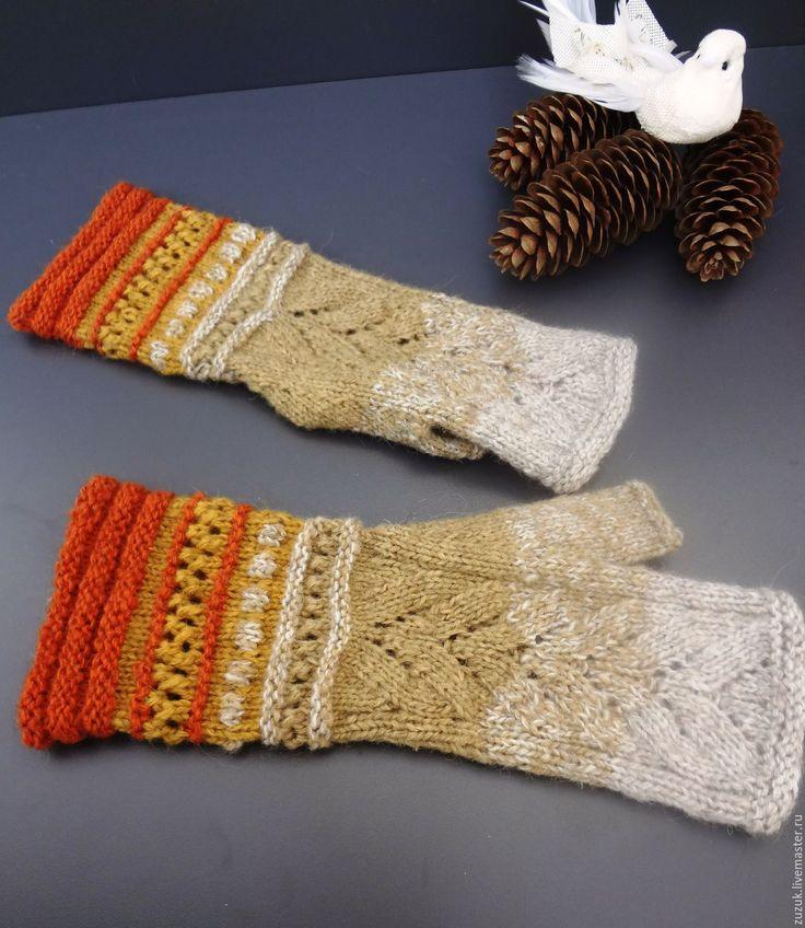 Купить или заказать Митенки 'Пробуждение леса' из альпаки в интернет-магазине на Ярмарке Мастеров. Митенки из приятной альпаки, чуть удлиненные. Цветовой микс навеян цветами пробуждающегося от зимнего сна леса. Возможно выполнение снуда в подобной технике.