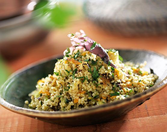 Cuscús con algas y verduras. Una deliciosa receta vegetariana