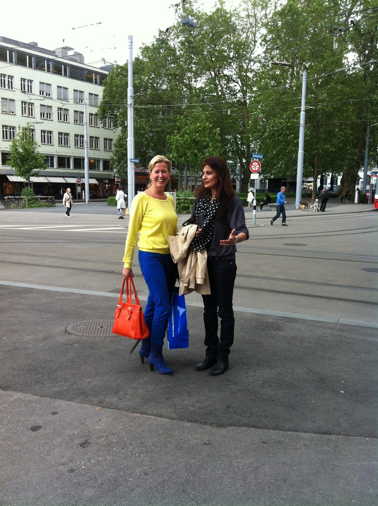 We spotted our blue boots in Zurich!